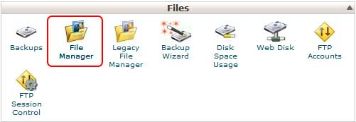 file manager bottom in Cpanel